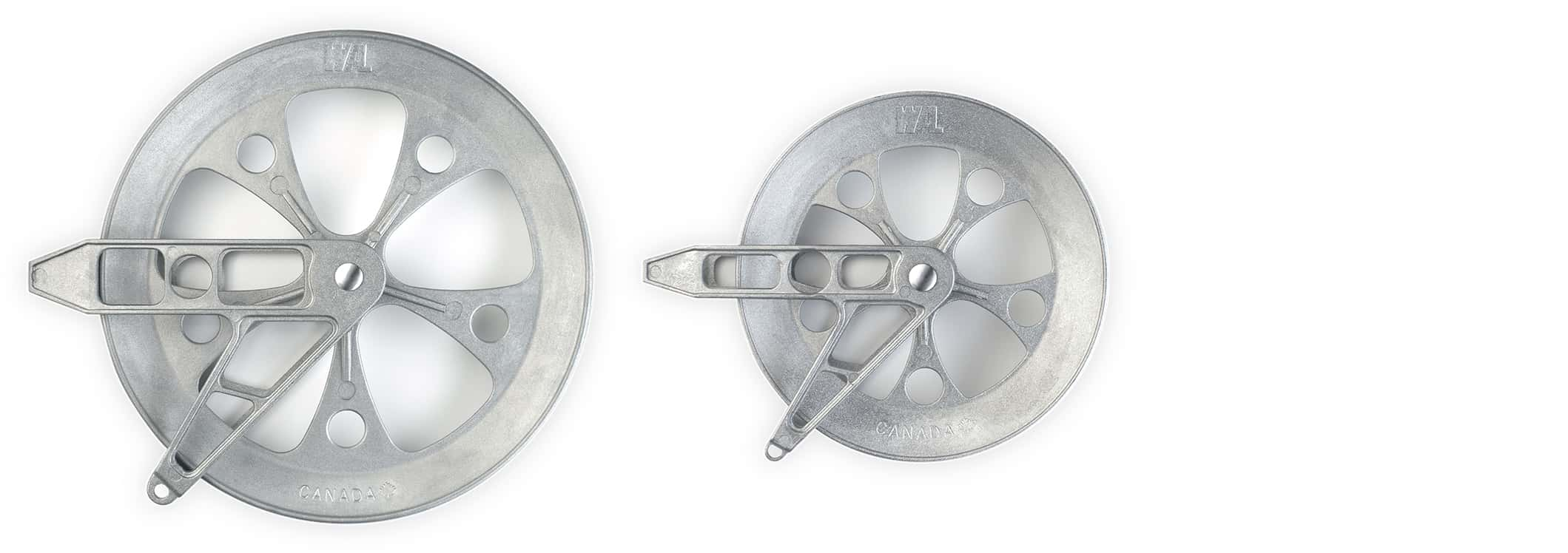 8-inch and 6-inch Pulley